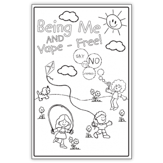 """""""Being Me and Vape-Free!"""" Color Me Poster"""