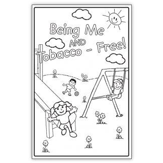 """""""Being Me and Tobacco-Free!"""" Color Me Poster"""