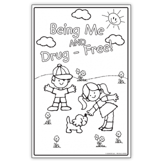 """""""Being Me and Drug-Free!"""" Color Me Poster"""