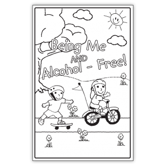 """""""Being Me and Alcohol-Free!"""" Color Me Poster"""