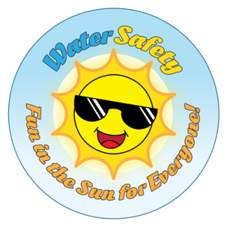 """""""Water Safety: Fun In The Sun For Everyone!"""" Sticker"""
