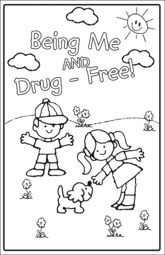 """Being Me and Drug-Free!"" Color Me Poster"
