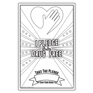 """""""I Pledge to be Drug-Free"""" Color Me Poster"""