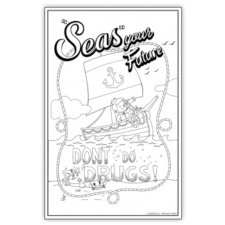 """""""'Seas' Your Future"""" Color Me Poster"""