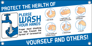 COVID-19: Hand Washing Banner (Adult)