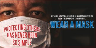 COVID-19: Wear Face Masks Banner (Adult)