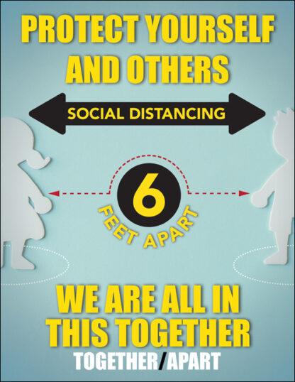 COVID-19: Social Distancing Plastic Sign (Children)