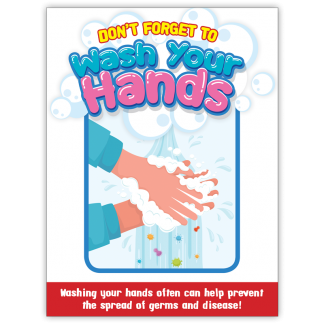 COVID-19: Hand Washing Poster (Children)
