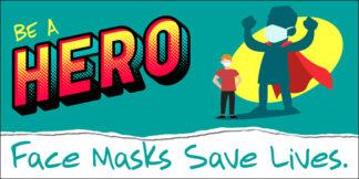 COVID-19: Wear Face Masks Banner (Children)