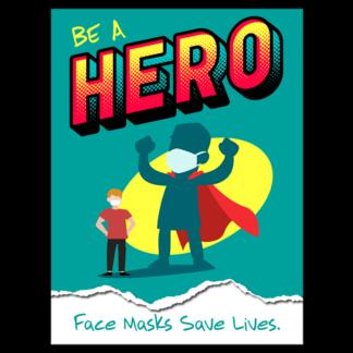 COVID-19: Wear Face Masks Poster (Children)