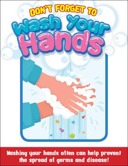 COVID-19: Hand Washing Plastic Sign (Children)
