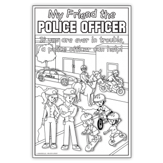 """""""My Friend the Police Officer"""" Color Me Poster"""