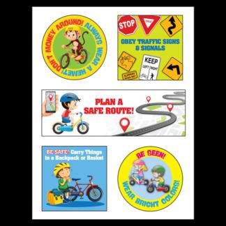 Wheel Safety Sticker Sheet