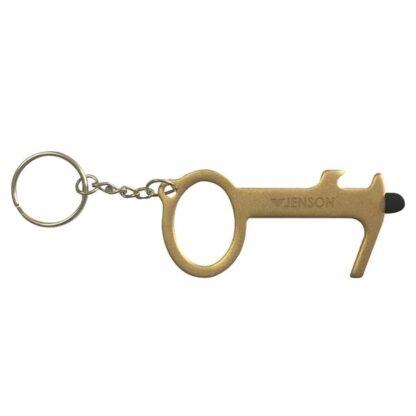 Custom Brass Door Opener With Bottle Opener & Stylus