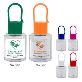 Custom Hand Sanitizer With Carabiner Cap (1 Oz.)