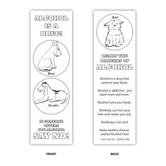 The Misadventures of Wags & Freckles Color Me Bookmark