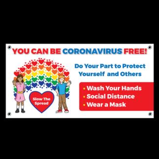 """You Can Be Coronavirus Free!"" Banner"