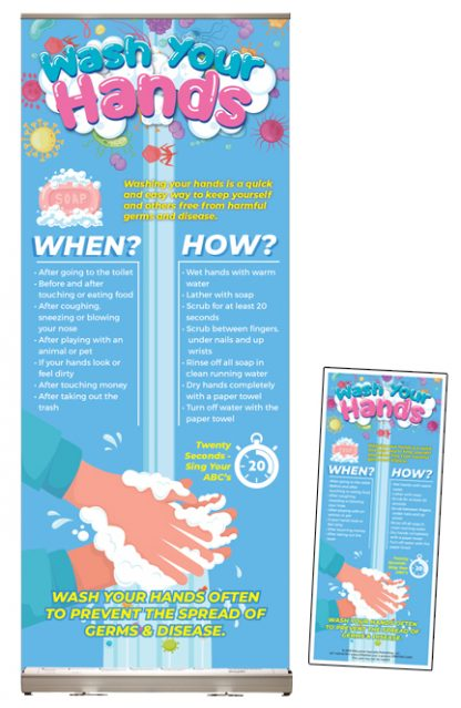 """""""Wash Your Hands"""" Presentation Display Package"""