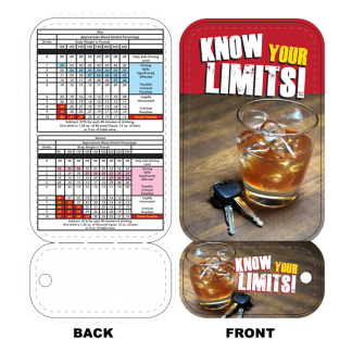 """Know Your Limits!"" BAC Calculator & Wallet Card"