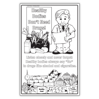 """""""Healthy Bodies Don't Need Drugs!"""" Color Me Poster"""