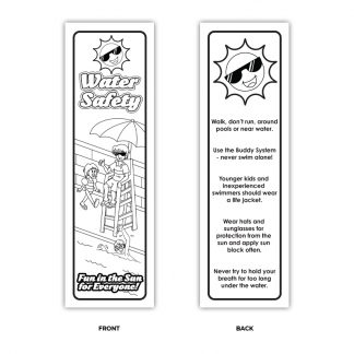 """Water Safety: Fun In The Sun For Everyone!"" Color Me Bookmark"