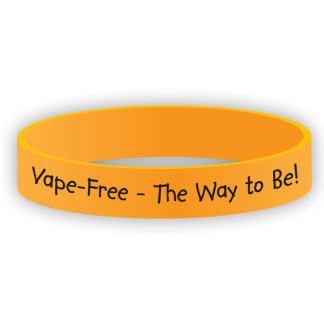 """Vape Free - The Way to Be!"" Wristband"