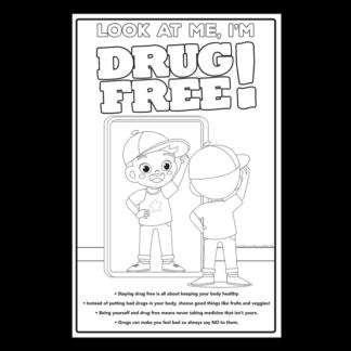 """Look at Me, I'm Drug Free!"" Color Me Poster"