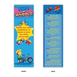 """Safe on Wheels!"" Bookmark"