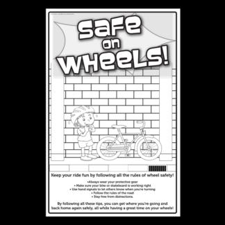 """""""Safe on Wheels!"""" Color Me Poster"""