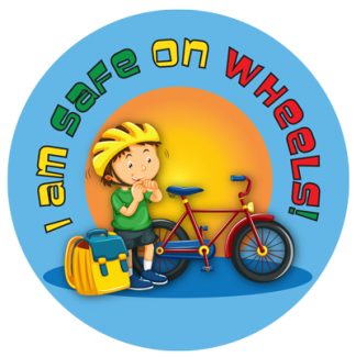 """I Am Safe on Wheels!"" Sticker"