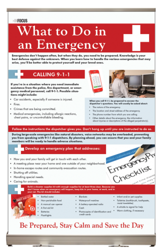 InFocus: What to do in an Emergency Tabletop Display