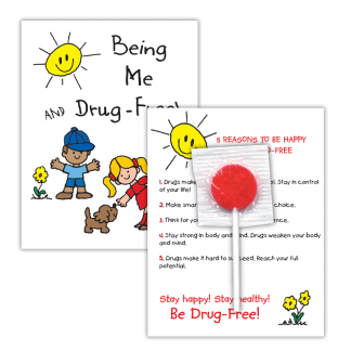 """Being Me and Drug-Free!"""" Lollipop Card"""