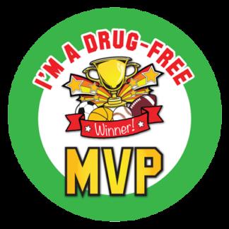 """I'm a Drug Free MVP"" Sticker"