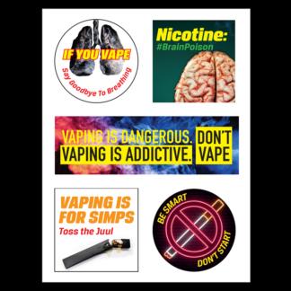 Vaping Prevention Sticker Sheet