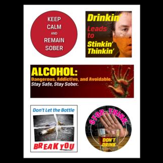 Alcohol Prevention Sticker Sheet