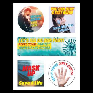 COVID-19 Prevention Sticker Sheet