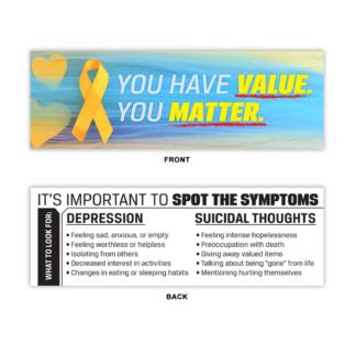 Suicide & Depression Prevention Bookmark
