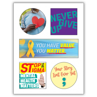 Suicide & Depression Awareness Sticker Sheet