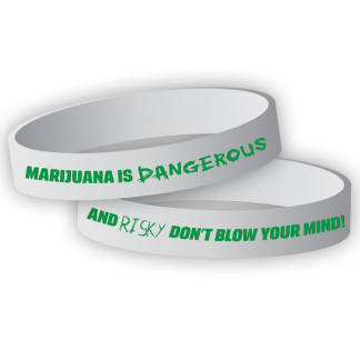 """""""Marijuana is Dangerous and Risky – Don't Blow Your Mind!"""" Wristband"""