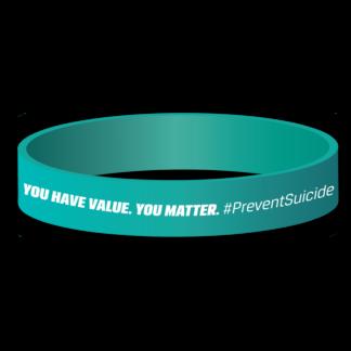 Suicide & Depression Awareness Silicone Wristband