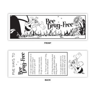 """'Bee' Drug-Free"" Color Me Bookmark"
