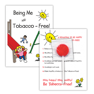 """""""Being Me and Tobacco-Free!"""" Lollipop Card"""