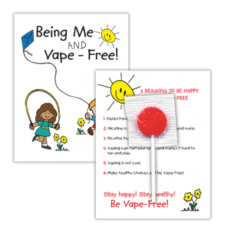 """""""Being Me and Vape-Free!"""" Lollipop Card"""